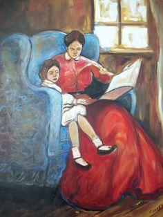 """Yesterday"" by Memphis artist Emery Franklin, 24""x 18"" oil on canvas.  Classic Emery folk art style and composition...Insky's Art Gallery, Birmimgham, AL"