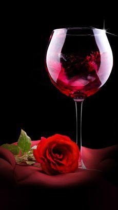 Wine Wallpaper, Flower Wallpaper, Mobile Wallpaper, Red Wallpaper, Wine Tattoo, Art Amour, Wine Glass, Glass Art, Wine Photography