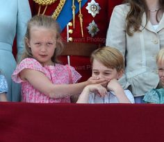 One of those iconic Buckingham Palace Balcony moments that will not be forgotten! #princegeorge #girlpower #TroopingtheColour