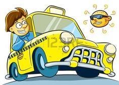 dibujos animados coches: Taxista