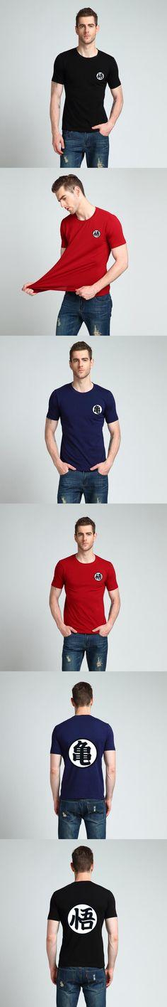2017 fashion T-Shirt man cotton casual Japanese anime Dragon Ball Z goku t shirt men  tops tees HAOYUEXUAN brand clothing