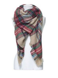 make her extra happy with this tartan plaid scarf! #giftsforher