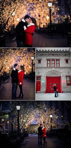 Chicago Christmas Engagement Session from Cristina G Photography  In the season where everything seems to twinkle and shine with the glimmer of hope and love and peace, engagement sessions like this one from Cristina G Photography come across our paths and light up our souls with glee. In the brisk air of winter and beautifully set among the shimmering lights of Chicago, these two adorable sweethearts show us how true love can really