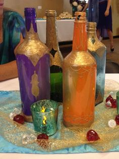colored glass... spray paint anyone?: