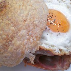 Pancetta bap Bap, Dairy, Eggs, Cheese, Breakfast, Food, Breakfast Cafe, Egg, Essen