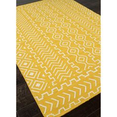 Handmade Flat Weave Tribal Pattern Yellow Rug (9' x 12') | Overstock.com