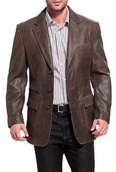 FashionAve London Mens Semi Leather Fleece Casual Coat