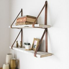 Bathroom Wall Display Shelves You Ll Love Wayfair Diy Floating Shelves Wayfair Magnolia Decor Oil Diffusion Evonne 2 Piece Wall Shelf Set Oldfield Reclaimed Woo Solid Wood Shelves, Wood Wall Shelf, Wood Floating Shelves, Diy Hanging Shelves, Display Shelves, Cool Shelves, Mounted Shelves, Diy Wall Shelves, Decorating Rooms