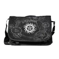 Supernatural Black Messenger Bag on CafePress.com