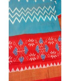 Blue Handloom Pure Ikkat Silk Saree