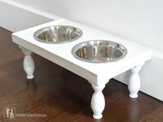 Come learn how to make a DIY Pet Feeder. Complete with 3 different style options--rustic, modern, or traditional!
