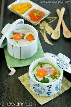 Chawanmushi (Savory Steamed Egg Custard) 茶碗蒸し | Easy Japanese Recipes at JustOneCookbook.com