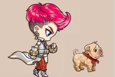 Chibi!GD and Chibi!Gaho, wahh so cute~