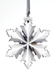 Swarovski snowflake Christmas ornament — let it snow, let it snow, let it snow All Holidays, Christmas Holidays, Christmas Ideas, Christmas Ornaments, Swarovski Snowflake, Jolly Holiday, Star Gift, Xmas Decorations, Beautiful Christmas