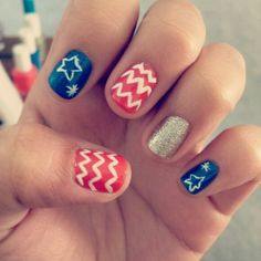 Fourth of July #nails!