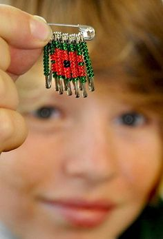 Safety pin poppy brooches created to support Royal British Legion (From York Press)