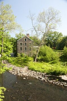 The Stone Mill in spring, along the Bronx River.