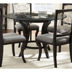 Greyson Living Calypso Glass-top and Black Dining Table - Free Shipping Today - Overstock.com - 16585465