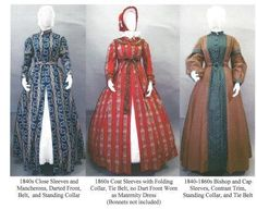 Pattern # 118; Wrapper, Work-Dress, Morning Gown or Maternity Dress Ladies 1840's - 1860's Wrapper with 3 Sleeve Variations, 2 Collars and Belt or Drawstring Option