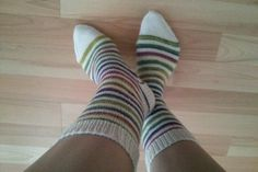 Stripey socks! Using Paton's Jacquard and Stripes pattern, available on Ravelry.