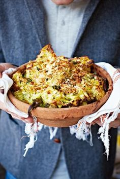 The Best Cauliflower & Broccoli Cheese from Jamie Oliver. I made this last night & it was delish!
