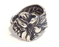 Sterling Silver Spoon Ring - circa 1903