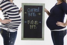 Best friend maternity photo - I SO should have done this! :(