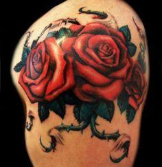 Roses Tattoo - Original Dragão Tattoo Studio - BH www.originaldragao.com.br