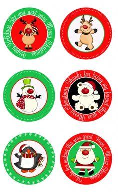 Printable Christmas tags etc - cute, cute, cute!