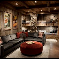 Unique 10 Rustic Family Room Designs On Family Room Rustic Family Room Other Metro By Peace Design, rustic family room design ideas, rustic family room designs. Room Design, Home, Bunk House, New Homes, Rustic Living Room Design, Contemporary Family Rooms, Luxury Interior Design, Rustic Family Room, Bunk Bed Designs