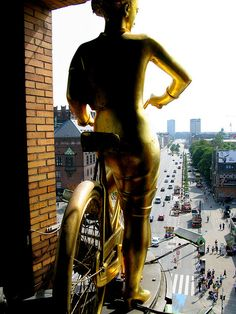 """The old """"fair weather girl"""" looks out over Tivoli and Rådhuspladsen. Town Hall Square, Copenhagen"""