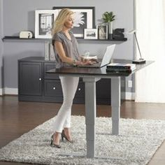 -Height Desks on Pinterest | Adjustable Height Desk, Adjustable Desk