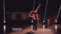Mark Ballas and Aly Raisman dancing Contemporary on DWTS 4-8-13