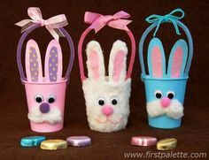 Make paper cup bunny basket ! Great gift for mom or dad for Easter ! Make paper cup bunny basket ! Great gift for mom or dad for Easter ! Plastic Cup Crafts, Paper Cup Crafts, Paper Cups, Easter Art, Easter Crafts For Kids, Easter Bunny, Craft Kids, Basket Crafts, Bunny Crafts
