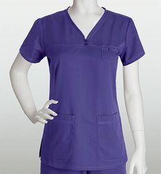 Grey's Anatomy Women's Solid V-Neck Scrub Top With Greys Anatomy Scrubs, Fit Back, Scrub Tops, V Neck, Suits, Grey's Anatomy, Side Panels, Caregiver, Stitching