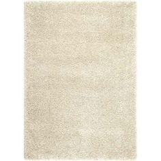 Balta Comfort Shag Rectangular White Woven Accent Rug (Common: 2-ft x 4-ft; Actual: 24-in x 43-in)