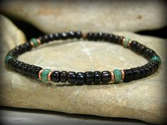 Tribal Bracelet, Mens Bracelet, Turquoise Bracelet, Mens Jewelry by StoneWearDesigns
