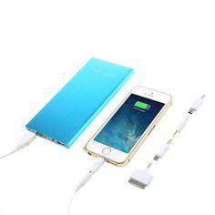 Power Bank 12000 MAH 2 USB color azul con linterna  y accesorios #friki #android #iphone #computer #gadget