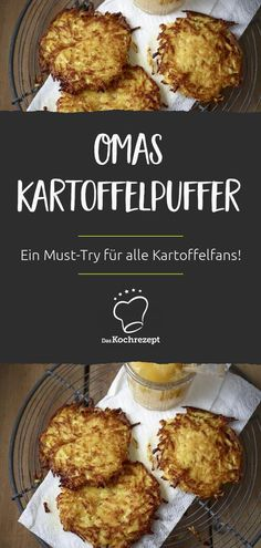 So hat sie schon Oma zubereitet: Diese Kartoffelpuffer schmecken einfach unglaub… That's how she prepared grandma: These potato pancakes just taste incredibly delicious! As a potato fan, this recipe is a must for you. Potato Recipes, Lunch Recipes, Vegetarian Recipes, Cooking Recipes, Recipes Dinner, Easy Healthy Recipes, Healthy Snacks, Easy Meals, Potato Pancakes