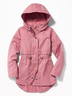 Old Navy Twill Hooded Field Jacket for Girls Girls Spring Jacket, Spring Jackets, Winter Jackets, Hot Outfits, Kids Outfits, School Outfits, Old Navy Kids, Tween Fashion, Kids Fashion