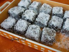 Once Upon a Bite: Chionati (Snow White) - Cake with chocolate and coconut topping Easy Sweets, Sweets Recipes, Candy Recipes, Greek Sweets, Greek Desserts, Coconut Deserts, Cake Cookies, Cupcake Cakes, Yogurt Cake