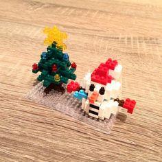 #snowman #christmastree #nanoblock #fromjapan #small #block #sosmall #cute #kawaii #christmas #christmasiscoming #jinglebells ♪ 🎄⛄️🎁🎂🎉💝