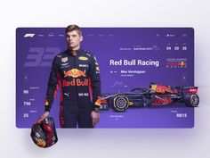 Red Bull Racing interface by Evgeniy Savochkin for RonDesignLab on Dribbble Hi guys!) The concept of web site the pilot of red bull. The interface of the current information of the Grand Prix. Homepage Design, Ui Ux Design, Interface Design, Red Bull Racing, Drag Racing, Ui Design Inspiration, Photoshop, Motion Design, Anchor Charts
