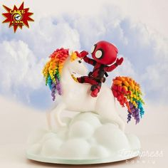 Deadpool Rides A Unicorn - cake made by Letterpress Bakery