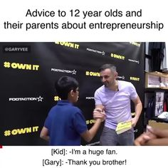 This is a very important clip for the kids and the parents of the kids today. #entrepreneurship for a % of people is the new #college and much like my POV on #college, #entrepreneurship isn't for everyone.  We must lean into #selfawareness and the ambition must be #happiness not 💵. Watch this carefully on this #saturdaymorning  Also any parents who see this, pls tag a parent you're friendly with, a lot of them aren't following me and I want as many parents to see this as possible. In fact… Marketing, Gary Vaynerchuk, Gary Vee, Success Mindset, Self Awareness, Current Mood, Entrepreneur Quotes, Social Platform, Entrepreneurship