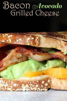 Bacon Avocado Grilled Cheese Sandwich Recipe #LoveAvocado #ad