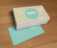 Anne double sided business card design by Deidamiah on Etsy, $10.99