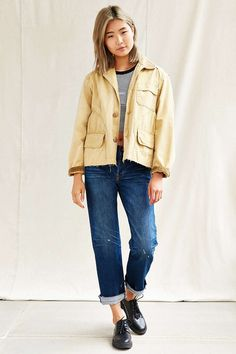 Urban Renewal Recycled Cropped Barn Jacket - Urban Outfitters