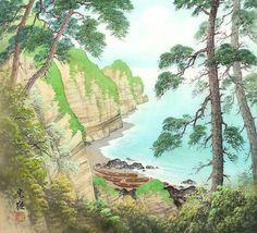 Painting by Koukei Kojima Japanese Painting, Chinese Painting, Francois 1, Mont Fuji, Water House, Japanese Artists, Asian Art, Art Day, Insta Art