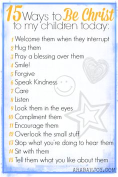 to really be an Influencer Ways to be Christ to be my children daily!Ways to be Christ to be my children daily! Gentle Parenting, Parenting Humor, Parenting Advice, Kids And Parenting, Parenting Classes, Peaceful Parenting, Parenting Styles, Foster Parenting, Raising Godly Children